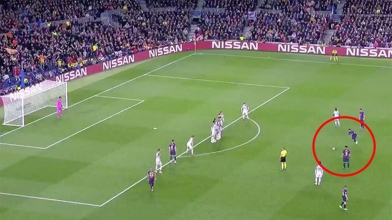 ليونيل ميسي يذهل عالم كرة القدم من ركلة حرة مجنونة ضد ليفربول